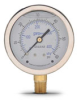 0-60 psi Liquid filled Pressure Gauge with 2.5 inch mechanical dial -- G25-SL60-4LB
