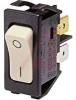 SWITCH,ROCKER;DPST;ON-OFF,10A,250VAC;0.25 IN. QC;ACTUATOR,BLACK -- 70065592 - Image