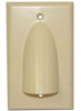 Skywalker Signature Series Single Gang Bundled Cable Wall Plate, Almond -- SKY05087AS