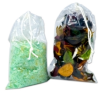 Clear Double Drawstring Plastic Bags -- 48859