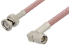 SMA Male Right Angle to BNC Male Cable 12 Inch Length Using RG303 Coax -- PE39138-12 -Image