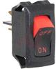 Switch, Miniature CURVETTE Rocker, SINGLE POLE, OFF-NONE-ON, .250 TAB TerminalS -- 70131710 - Image