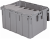 Container, Attached Lid Container 28 gal, Gray -- 39280