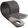 Clamp, aluminum with black vinyl coating, screw mt, 5/16 holding diameter -- 70208866 - Image