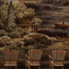 Chairs at Lake Scenic Frieze Tapestry Fabric -- R-Lakeview -- View Larger Image
