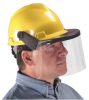 """Universal Visors - Polycarbonate visor > SIZE - 8""""x16""""x.060"""" > LENS - Clear > UOM - 12/bx -- 488132 -- View Larger Image"""