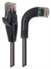 Category 5E Right Angle Patch Cable, Straight/ Right Angle Right Exit, Black, 3.0 ft -- TRD815RA7BLK-3 -Image