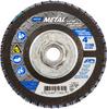 Norton Metal ZA Coarse Arbor Thread Fiberglass Flat Flap Disc -- 66254472657 - Image