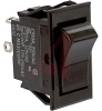 Switch,Rocker,Solder TerminalS,ON-NONE-OFF,SPST,BLACK Rocker -- 70131601 - Image