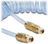 1/4in. ID Nylon Clear Blue Polyurethane Coiled Hose, 12 ft. -- HP14C15CBL - Image