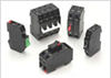Hydraulic Magnetic 1-4 Pole, Snap-On Rail Mounting Circuit Breakers -- D Series