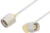 SMA Male to SMA Male Right Angle Cable 48 Inch Length Using PE-SR047AL Coax -- PE3393LF-48 -Image
