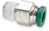 Male Connector,NP Brass,1/4 In,PK 10 -- 1AAE5 - Image