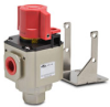 SHUT-OFF / RELIEF VALVE 1/2in FNPT LOCK-OUT BRACKET -- ARV-44 - Image