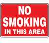 MSMKG25VA - Safety Sign, No Smoking In This Area, 10 X 14, Aluminum -- GO-61014-81