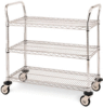 Heavy Duty Utility Cart, 3 Chrome Wire Shelves -- 3SPN33DC
