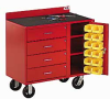 VALLEY CRAFT Vari-Tuff Drawer/Bin Maintenance Carts -- 4734400