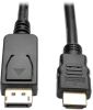 DisplayPort 1.2 to HDMI Active Adapter Cable, DP with Latches to HDMI (M/M), UHD 4K x 2K/1080p, 6 ft. -- P582-006-V2-ACT -- View Larger Image