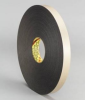 3M 4496 Black Foam Mounting Tape - 2 in Width x 36 yd Length - 1/16 in Thick - 23532 -- 051115-23532 -- View Larger Image