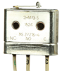HM Series Hermetically Sealed Basic Switch, Single Pole Double Throw Circuitry, 4 A at 28 Vdc, Integral Lever Actuator, Leadwire Termination, Military Part Number MS27216-4 -- 2HM19-5 -Image