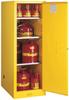 Justrite Sure-Grip EX 54 gal Yellow Hazardous Material Storage Cabinet - 23 1/4 in Width - 65 in Height - Floor Standing - 697841-11406 -- 697841-11406
