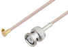 BNC Male to SSMC Plug Right Angle Cable 60 Inch Length Using RG316-DS Coax -- PE3C4476-60 -Image