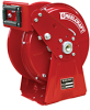 Compact Dual Pedestal Spring Driven High Pressure Grease Reel Series DP5000 -- DP5600 OHP - Image