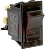 Switch,Rocker,Sealed,DPST,ON-NONE-OFF,SCREW TerminalS,BLACK Rocker -- 70131605 - Image