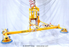 Four Pad Air Powered Lifter with Powered Tilt -- AT100M4-86-2/44FP - Image