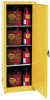 Flammable Liquid Safety Storage Manual Close Cabinet -- CAB136-YELLOW