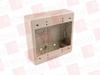 "HELLERMANN TYTON TSRPI-JBD ( DUAL GANG JUNCTION BOX, 1-1/2"" DEEP, PVC, IVORY, 1/BAG ) -Image"