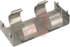 Battery Holder; D; 1.187 in. to 1.375 in.; Aluminum; Nickel Plated; PC Mount; 4 -- 70182572 - Image