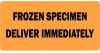 Frozen Specimen Deliver Immediately Medical Label Orange -- LV-MPSR20