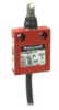 MICRO SWITCH 24CE Series Miniature Safety Limit Switch, 1NC/1NO Direct Opening, Slow Action, Make-Before-Break (M.B.B.), Roller Plunger, Perpendicular (Boot Seal), Bottom Exit Cable, 1 m, 100 mA to 10