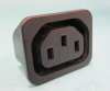 IEC 60320 Sheet F Snap-in Power Outlet -- 83030620