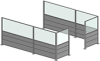 Sheet Metal / Clear Plastic Partitions - Image