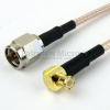 SMA Male to RA MCX Plug Cable RG-316 Coax in 24 Inch and RoHS -- FMC0217315LF-24 -Image