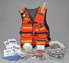 Fire Warden Vest,Orange,Nylon -- 14U324