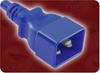 POWER CORD | QUAIL P/N: 5281.048BLU | 4' 12/3 SJTW 105°C BLUE NACC IEC-60320-C20 BLUE TO IEC-60320-C19 BLUE -- 5281.072BLU