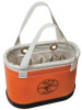 Tool Bucket,Handle,14x7x10,15 Pkt,Orange -- 34E635