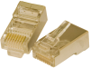 RJ45 Shielded Plug Solid Wire Only 3 Prong -- 10-23066 - Image