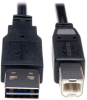 Universal Reversible USB 2.0 Cable (Reversible A to B M/M), 10-ft. -- UR022-010 - Image