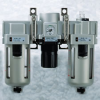 SMC Filter Regulator Lubricator Air Preparation Unit -- Model AC60-N10CE-3Z - Image