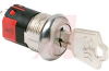 Switch, Keylock; SP; 250VAC; 2A; Keypull POS 1,2; Solder lug -- 70128602 - Image