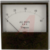AC Voltage Meter; 0 to 25 VAC; Iron-Vane; High Density Black Phenolic; + 2% -- 70209477