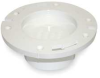Closet Flange,4 x 3 In,w/Knockout,PVC,Wh -- 1CNW7