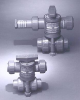 Series ABV Air Actuated Ball Valve -- ABVS25EP-PP