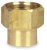 Water Hose Coupling,1/2 FNPTx 3/4 GHT(F) -- 4KG85