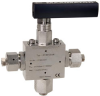 3-way Ball Valve, 90 ° -- 21B3D36H -- View Larger Image