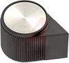 Knob; ABS; Round Pointer; Black; 1/4 in.; 0.900 in.; Gloss -- 70206994
